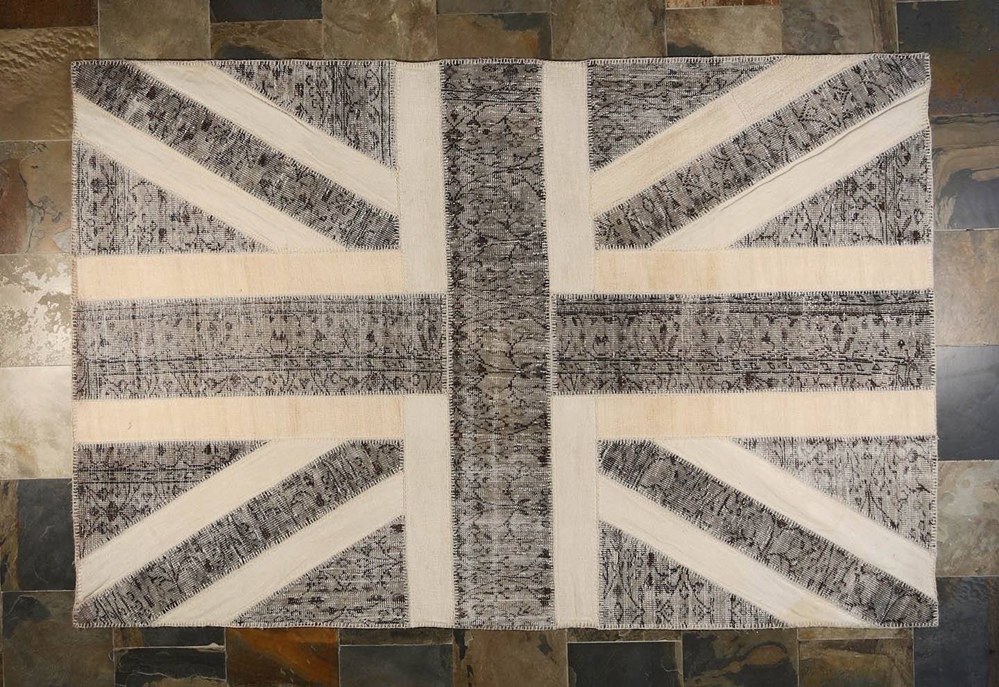 Over Dyed Patchwork Uk Union Jack Flag